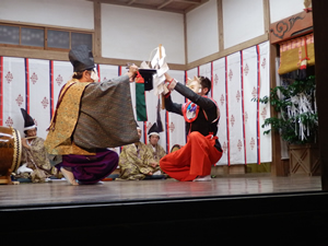 画像:柿岡八幡宮太々神楽 (八幡神社)07