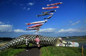 『最優秀賞捕まえた地上の鯉田井俊夫』の画像