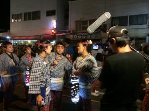 『おまつり撮影の様子2』の画像
